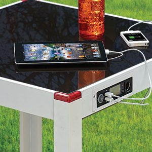 charging patio table