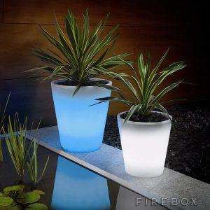 firebox plant pot solar