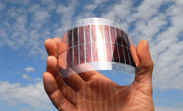 Flexible, organic solar cell module